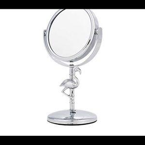 SALE--Danielle Mini Magnifying  Flamingo Mirror